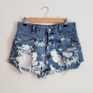 VTG High Waist Distressed Cutoff Shorts
